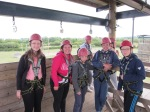 Staffs CYP - Whitemoor Lakes day - High ropes group photo